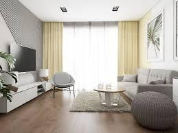 20 quadratmeter wohnzimmer graues sofa gelbe vorhänge
