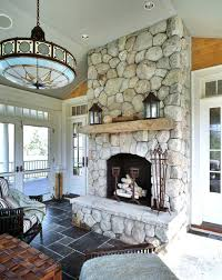 Fireplace Decorating Ideas For Spring Stone Mantels 6 Tags Rustic Living Room With French