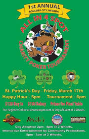 St Patty Day Poker Tournament Fundraiser in Boulder City