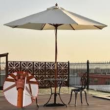 3 Tier Pagoda Patio Umbrella by Wood Patio Umbrellas For Less Overstock Com