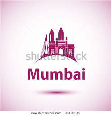 Mumbai India Skyline Silhouette Black Vector Design On White Background Illustration Icon
