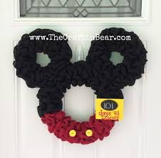 Mickey And Minnie Bathroom Accessories by Mickey Mouse Wreath Burlap Wreath Countdown To Disney