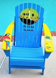 Custom Painted Margaritaville Adirondack Chairs by Would Love To Have One Of These Custom Parrot Head Adirondack