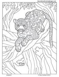 Leopard Jungle Colouring Pages Page 2