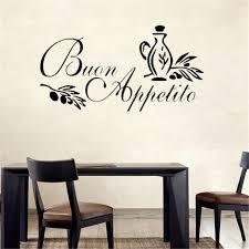 sticker citation cuisine buon appetito mur autocollant italien citation cuisine