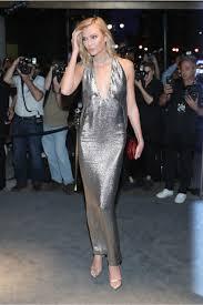kloss tom ford fashion silver halter sequin dress