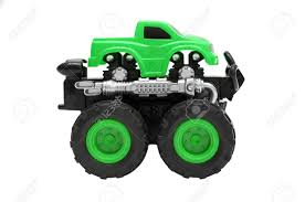 Big Truck Toy With Big Wheels, Bigfoot, Monster Truck Isolated ...