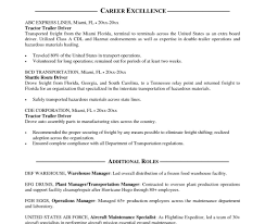 Truck Driver Resume Sample Commercial Cdl Heavy Samples Templates ...