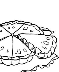 Pie clipart coloring 6