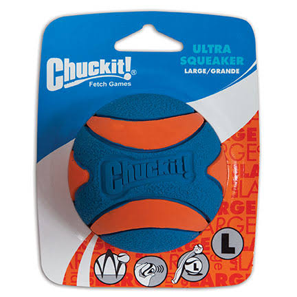 Chuck It Ultra Squeaker Ball - Orange