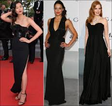 2014 Cannes Red Carpet Dresses Fashion Black Lbds