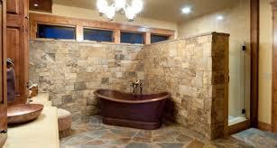 Rustic Bathroom Floor Tile Design Ideas Natural