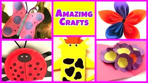 Easy Arts And Crafts To Do At Home Simple Make Ye Craft Ideas Homemade Art Projects For Toddlers Decor