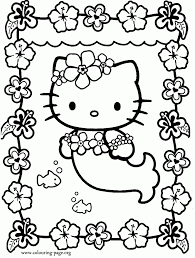 Cool Coloring Hello Kitty Printable Pages About Free Az