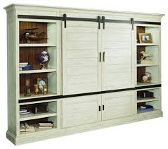 Chesapeake Vintage Style Burnished Rustic White Sliding Door Entertainment