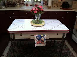 Country Inspired Vintage Kitchen With Enamel Table From The 40s