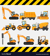 Different Types Of Construction Trucks Royalty Free Vector