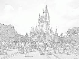 Disney Castle Coloring Page