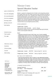 Education Resume Examples Beauteous Physical Teacher Of On Example Special R