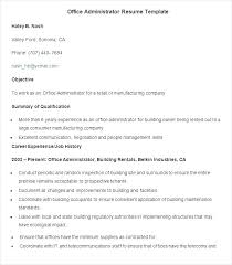Resume Templates Administrative Assistant Professional