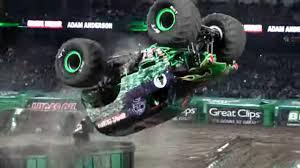 100 Monster Truck Show Anaheim Grave Digger Adam Anderson Winning Freestyle Jam