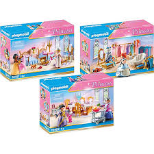 playmobil einrichtung für prinzessinnenschloss 70453 schlafsaal 70455 speisesaal 70454 ankleidezimmer mit badewanne playmobil princess