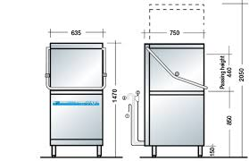 Pass Through Dishwasher Dimensions