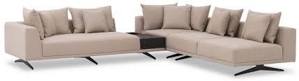 casa padrino luxus ecksofa sandfarben bronze 340 x 292 x h 64 cm edles wohnzimmer sofa mit kissen luxus möbel luxus qualität