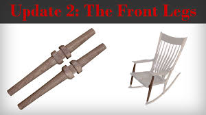 Maloof Rocking Chair Joints by The Front Legs The Wood Whisperer Guild Sculpted Rocker Youtube