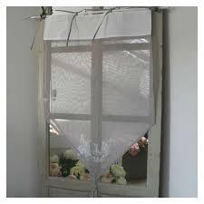 boutique rideau monogramme blanc et gris en coton à nouettes