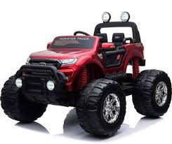 100 Kids Monster Trucks Licenced Ford Ranger Truck 4 Motors Electric Ride On Premium Version Metallic Red