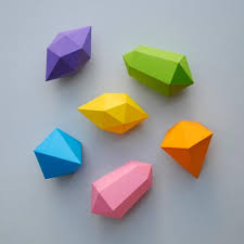 Paper Gems By Minieco Folding For Kids Projects