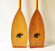 Decorative Wooden Oars And Paddles by Vintage Wooden Canoe Kayak Oars Boat Paddles With Elephant