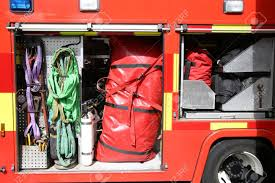 100 Inside A Fire Truck Rescue Equipment Packed Stock Photo