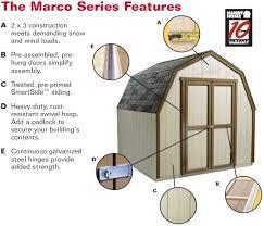 handy home avondale 10x8 wood storage shed kit w floor 18242 6