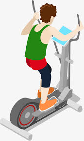 Gym Exercise Cartoon Treadmill Free PNG And Vector