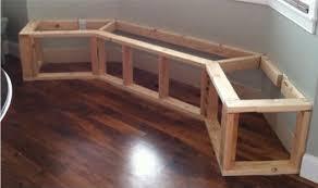 fabriquer un canapé en bois cuisine banquette en bois séduisant comment faire une banquette de