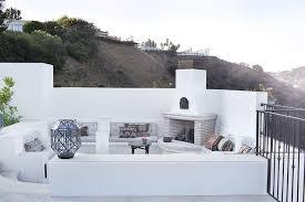 Stunning Images Mediterranean Architectural Style by Mediterranean Style Patio With Corner Fireplace Mediterranean