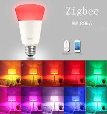 zigbee 9w led light bulb with zigbee hub wireless bulb smart