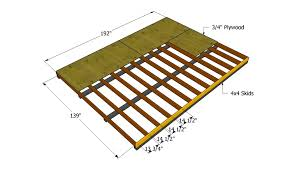 Distance Between Floor Joists by How To Build A 12x16 Shed Howtospecialist How To Build Step