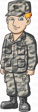 A Man Dressed In US Air Force Airman Battle Uniform Cartoon Clipart Vector