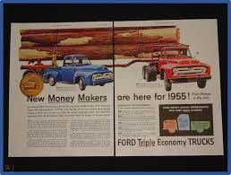 100 Ford Truck Values November 27 1954 Ad 2 Page GVW Big Job