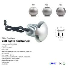 3w cree led ip67 outdoor recessed deck led underground l 12v