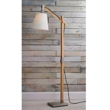 Modern Rustic Wood Arc Floor Lamp