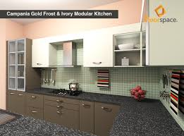 Campania Gold Frost Ivory C Shaped Kitchen