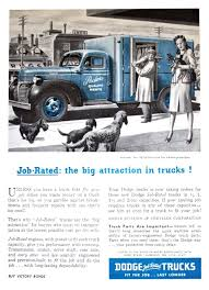 Dodge Trucks Ad (1945) - Job-Rated: The Big Attraction In Trucks ... Truck Driving Jobs For Veterans Get Hired Today For 1960 Intertional Harvester Range Page 3 Pacific Region Every Job Best Image Kusaboshicom The All New 2019 Chevrolet Silverado Local Driver Billings Mt Dts Inc When Your Job Is 90 Stress Quires You To Sit All Day Sleep Do You Have The Right Size Class B Cdl Traing Commercial School Future Of Trucking Uberatg Medium