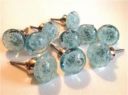 Glass Starfish Cabinet Knobs by Aqua Blue Glass Bubble Cabinet Knobs Drawer Pulls Coastal Seconds