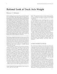 100 Truck Axle Weight Limits Rational Look At