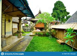 100 Ubud Garden Traditional Old Family House In Bali Indonesia Stock Photo