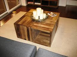 vintage chic wine crate coffee table